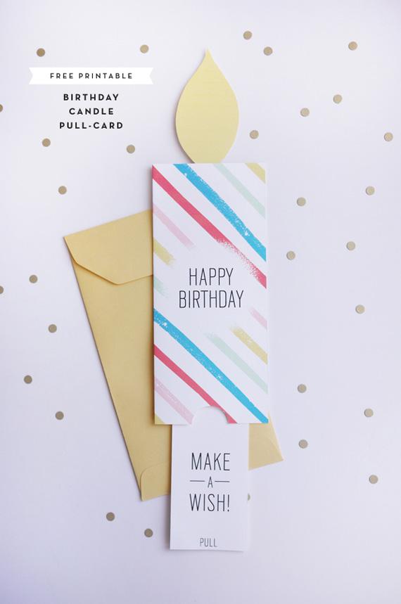 Tarjeta de cumpleaños desplegable en forma de vela