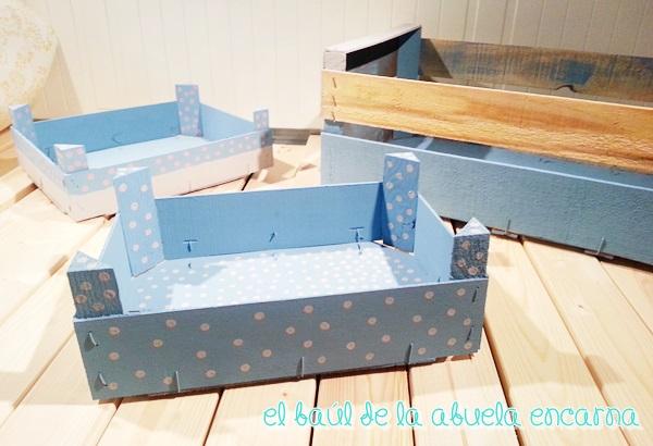 5 manualidades con chalk paint material para manualidades - Cajas de fruta decoradas ...