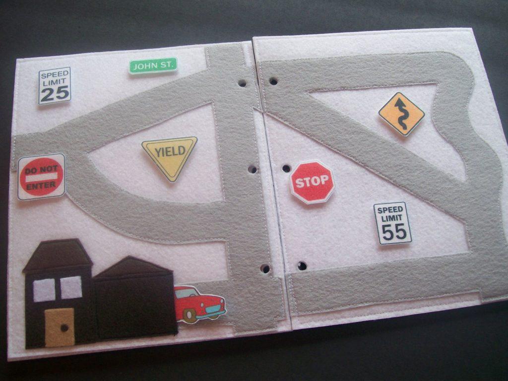 Libro de fieltro: carretera