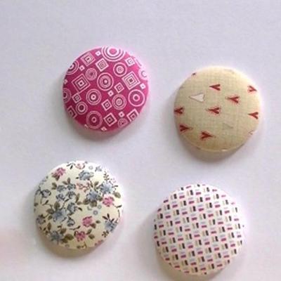Botones forrados con telas patchwork
