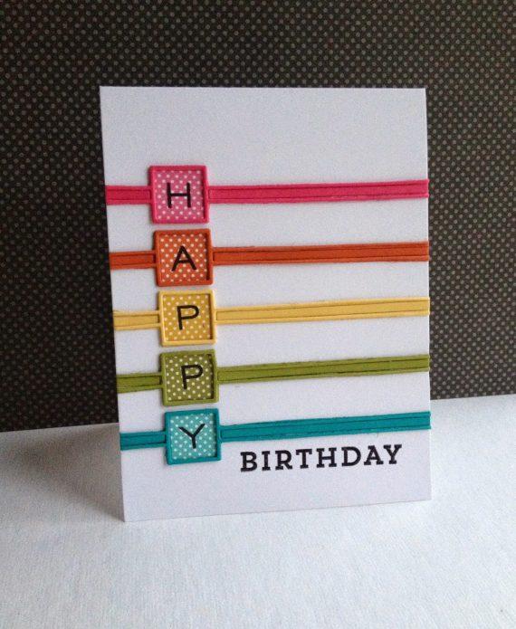 Felicitación de cumpleaños multicolor