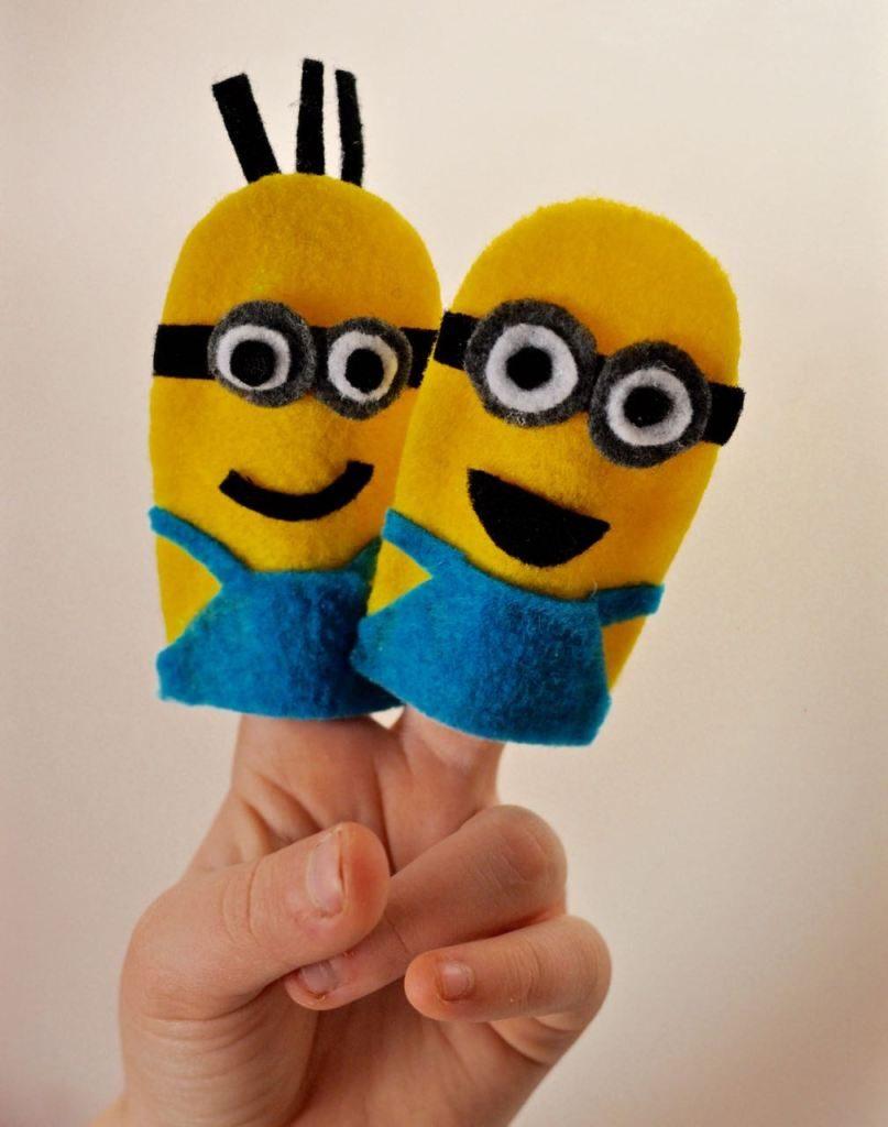 minions marionetas de dedo