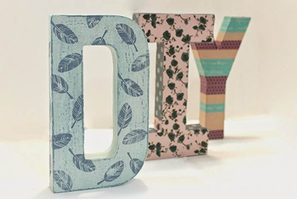 letras decoradas con chalk paint