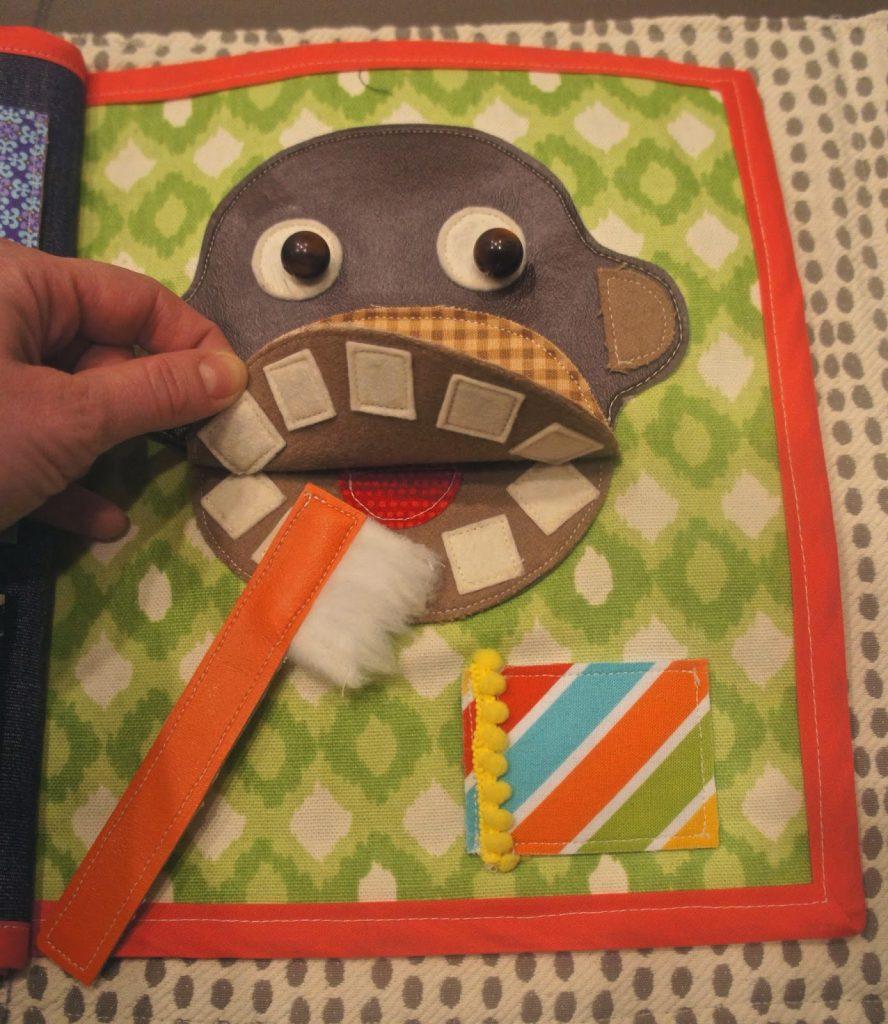 Libro de fieltro: lavar los dientes