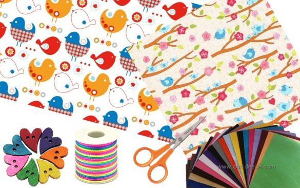 Materiales para hacer libros de fieltro para niños