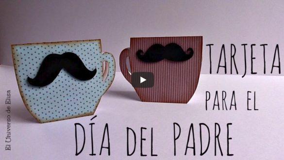 tarjetas para el dia del padre con forma de taza