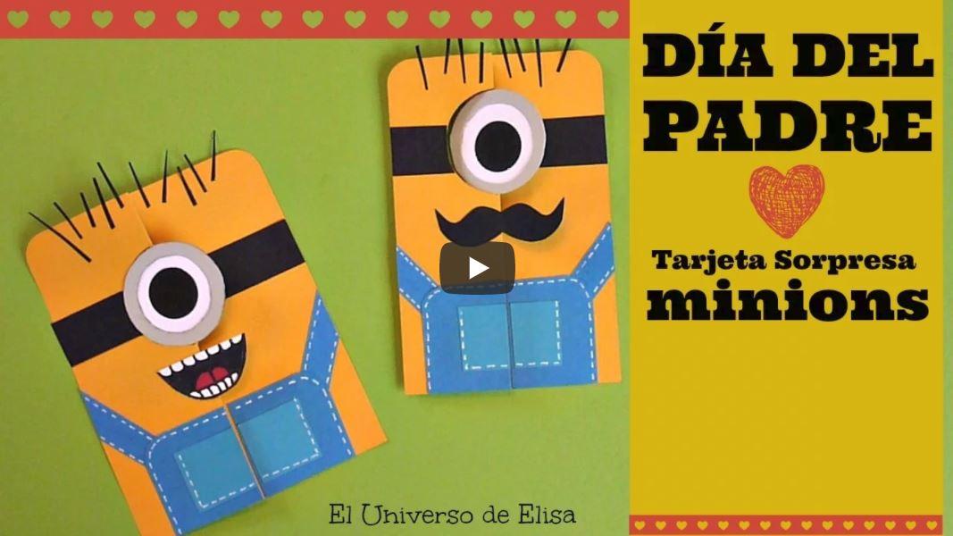 tarjetas para el dia del padre minion con ojo movil
