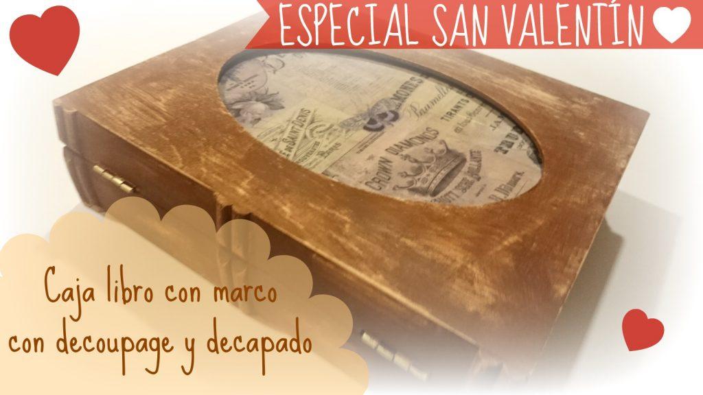 caja de madera para manualidades con decapado